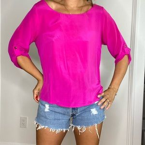 Neon Pink Silk Shirt from Bloomingdale's